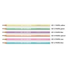 Μολύβι Stabilo 421 Παστέλ 2B σε χρώματα