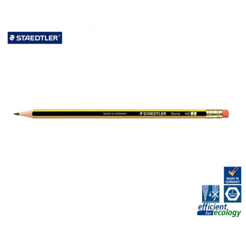 Μολύβι Staedtler Noris 122 No2 HB με γόμα