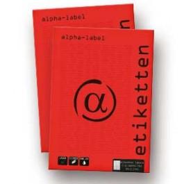 Alpha Labels ετικέτες αυτοκόλλητες εκτύπωσης Α4