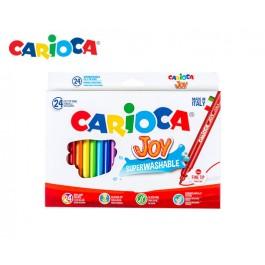 Μαρκαδόροι Carioca λεπτοί 24 τεμ. Joy