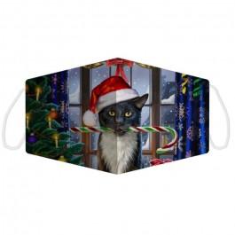 Μάσκα προστασίας Large με αυξομειωτή πολλαπλών χρήσεων Christmas Lisa Parker Krampuss Cat