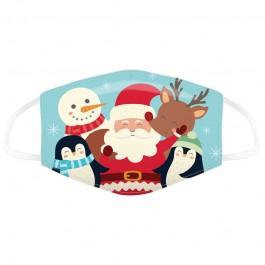 Μάσκα προστασίας Small με αυξομειωτή πολλαπλών χρήσεων Jingle Bells Christmas Characters