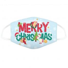 Μάσκα προστασίας Large με αυξομειωτή πολλαπλών χρήσεων Merry Christmas