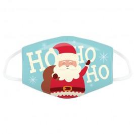 Μάσκα προστασίας Large με αυξομειωτή πολλαπλών χρήσεων HO HO HO Christmas Santa