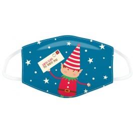 Μάσκα προστασίας Small με αυξομειωτή πολλαπλών χρήσεων Christmas Elfies Letter to Santa