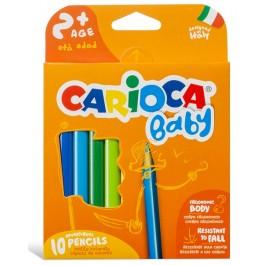 Ξυλομπογιές Κοντές Carioca Baby 10τεμ.