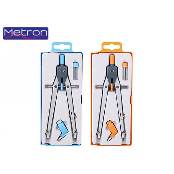 Διαβήτης Metron με βίδα (ροδέλα) και δαχτυλίδι μεγάλος σχολικός
