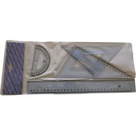 Σετ Γεωμετρικών Οργάνων ILCA 30cm πλαστικό διάφανο