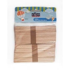 Ξυλάκια (Γλωσσοπίεστρα) φυσικό χρώμα 15cm 80 τεμάχια Exas