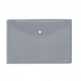 Φάκελος με κουμπί πλαστικός Α4 διάφανος γκρι Τυποτράστ (Ντοσιέ με κουμπί)