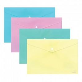 Φάκελος με κουμπί πλαστικός Α4 Παστέλ χρώματα Τυποτράστ (Ντοσιέ με κουμπί)
