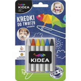 Χρώματα Προσώπου Kidea 6τεμ. (Μολύβια)