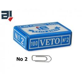 Συνδετήρες Veto no 2 από ατσάλι