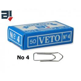 Συνδετήρες Veto no 4 από ατσάλι